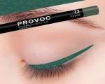 Provoc Gel Eye Liner 73  Fairytale Гелевая подводка в карандаше для глаз шиммер, цвет морской волны (светлый)